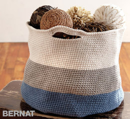 Handy Basket in Bernat Maker Home Dec