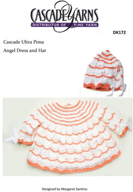 Angel Top and Hat in Cascade Ultra Pima - DK172