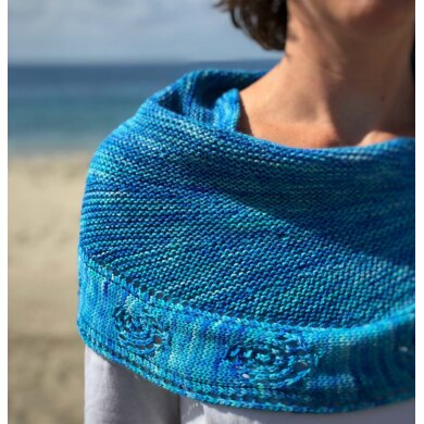 Ammonite Shawl in Zen Yarn Garden Serenity 20 - Downloadable PDF