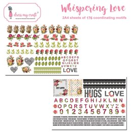 Dress My Craft Image Sheet 240gsm A4 2/Pkg - Whispering Love