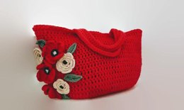 Flower Tote Crcochet Bag