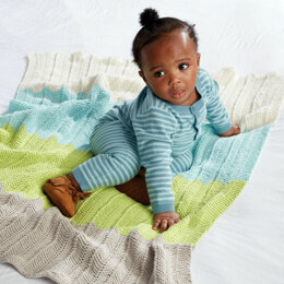 Bold Baby Knit Blanket in Bernat Softee Baby Cotton - Downloadable PDF
