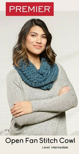 Open Fan Stitch Cowl in Premier Yarns Bamboo Chunky - Downloadable PDF