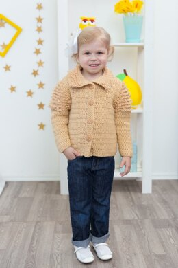 Warm cardigan for a girl