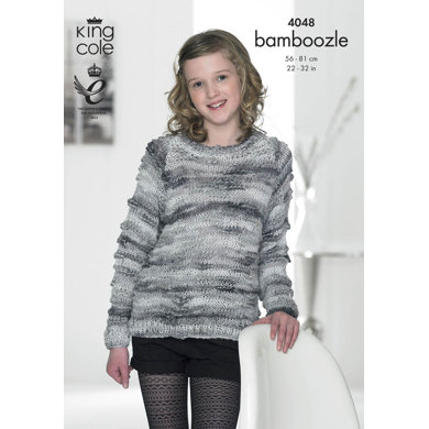 Sweater and Cardigan in King Cole Bamboozle - 4048