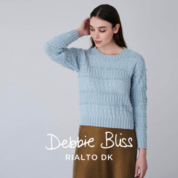 Oban - Jumper Knitting Pattern for Women in Debbie Bliss Rialto DK - Downloadable PDF