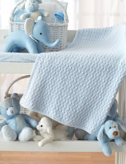 Bundle in Blue Blanket in Patons Beehive Baby Fingering - Downloadable PDF