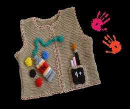 "Baby Pinafore Vest ""I want to Create"""