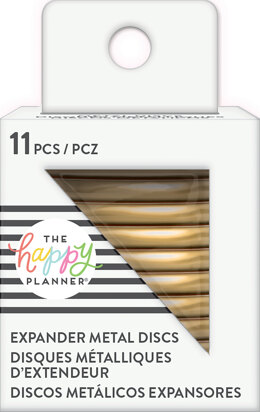 "Me & My Big Ideas Happy Planner Metal Expander (BIG) Discs 1.75"" 11/Pkg - Gold"