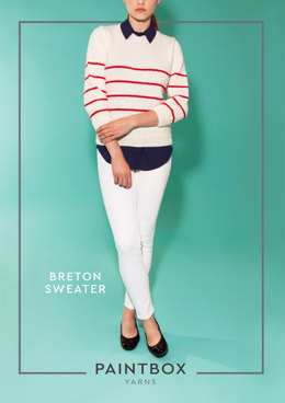 """Breton Jumper"" - Jumper Knitting Pattern For Women in Paintbox Yarns Simply DK - DK-Wom-001"