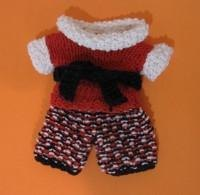 Knitkinz Red, Blue, White Pants and T-short