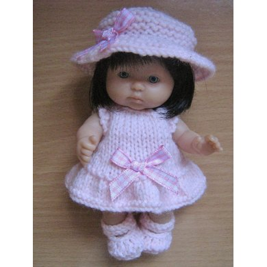 "5"" Berenguer Doll Sunday Best Outfit"