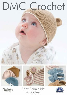 Baby Beanie Hat & Bootees in DMC Natura Just Cotton - 15045L/2