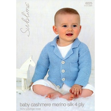Cardigan in Sublime Baby Cashmere Merino Silk 4 Ply - 6025