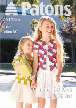 Girls Crochet Top and Vest in Patons 100% Cotton D
