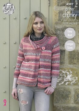 Ladies Jackets in King Cole Drifter Chunky - 4597 - Downloadable PDF