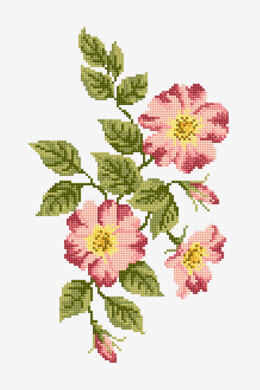 Pink Flowers in DMC - PAT0677 -  Downloadable PDF