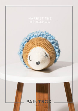 Harriet the Hedgehog in Paintbox Yarns Simply DK - DK-CRO-TOY-004 - Downloadable PDF