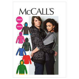 McCall's Misses'/Men's Tops and Jacket M6614 - Sewing Pattern