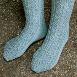 Shannon Cabled Socks