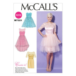 McCall's Misses'/Miss Petite Sweetheart-Neckline Dresses M7321 - Sewing Pattern