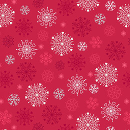 Lewis & Irene Hygge Glow in the Dark - Snowflakes Red