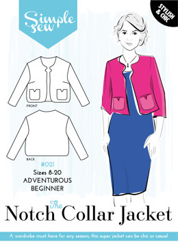 Simple Sew Patterns The Notch Collar Jacket #021 - Sewing Pattern