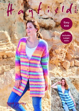 Waistcoat & Jacket in Hayfield Spirit Chunky - 8252 - Downloadable PDF
