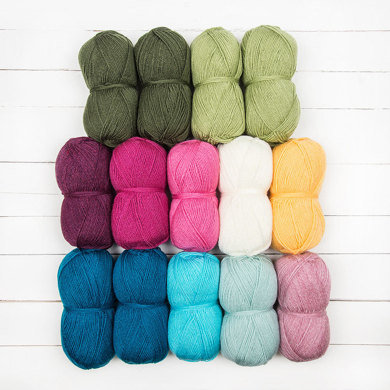 Stylecraft Lily Pond Blanket Crochet Along by Jane Crowfoot - 14 Ball Color Pack
