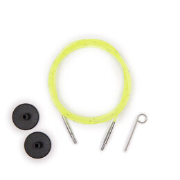 KnitPro Smart Stix Neon Green Single Cord - 126cm to make 150cm needle
