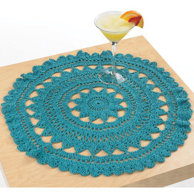 Mediterranean Surf Doily In Aunt Lydias Fashion Crochet Thread Size