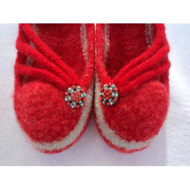 I-Cord Slippers Felted Knit for Women