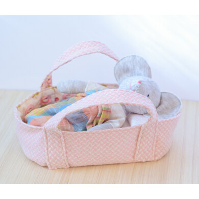 Basket bed for stuffed animals