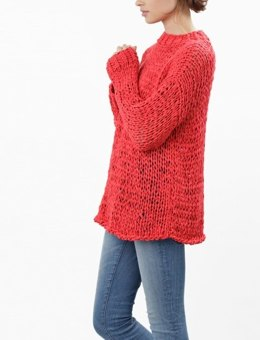 Summer Breeze Sweater in Wool and the Gang Mixtape Yarn - Leaflet