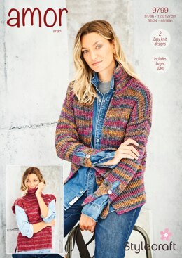 Jacket and Tunic in Stylecraft Amor Aran - 9799 - Downloadable PDF