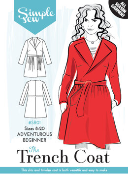 Simple Sew Patterns The Trench Coat SR01 - Paper Pattern, Size 8-20