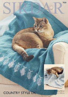 Cat Blankets in Sirdar Country Style DK - 7828