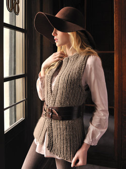 Autumn Vest in Blue Sky Fibers Bulky - Downloadable PDF