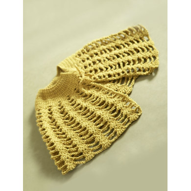 Crochet Capelet In Lion Brand Vannas Choice 60728ad Crochet