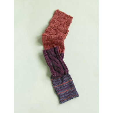 Pattern Sampler Scarf in Lion Brand Wool-Ease Thick & Quick - 90065AD