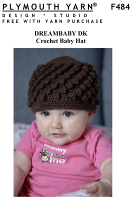 Crochet Baby Hat in Plymouth Yarn Dreambaby DK - F484 - Downloadable PDF