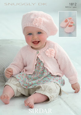 Cardi, Beret and Shoes in Sirdar Snuggly DK - 1812