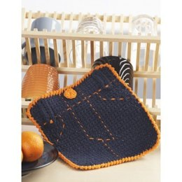 Fly Front Dishcloth in Handicrafter Cotton Solids - Downloadable PDF