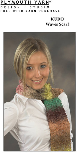 Waves Scarf in Plymouth Kudo - F277