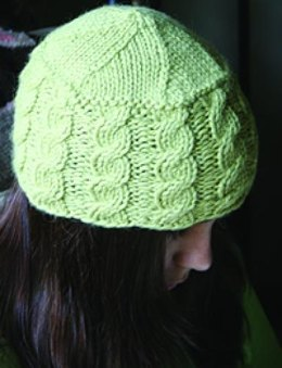 Cabled Hat in Misti Alpaca Chunky - 917