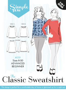 Simple Sew Patterns The Classic Sweatshirt #029 - Sewing Pattern