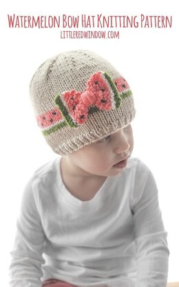 Watermelon Bow Hat
