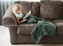 Mermaid Tail Blanket ~ Crochet Version