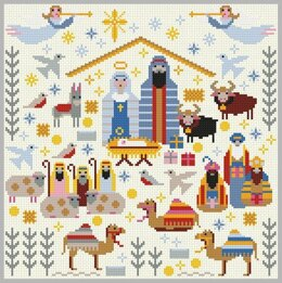 Riverdrift House Christmas Nativity Cross Stitch Kit - 25cm