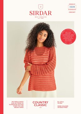 Sweater in Sirdar Country Classic 4 Ply - 10244 - Leaflet